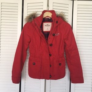 Hollister Red Coat